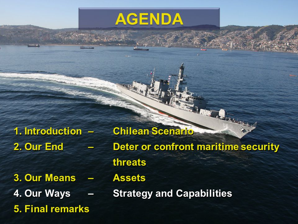 AGENDA 1. Introduction – Chilean Scenario