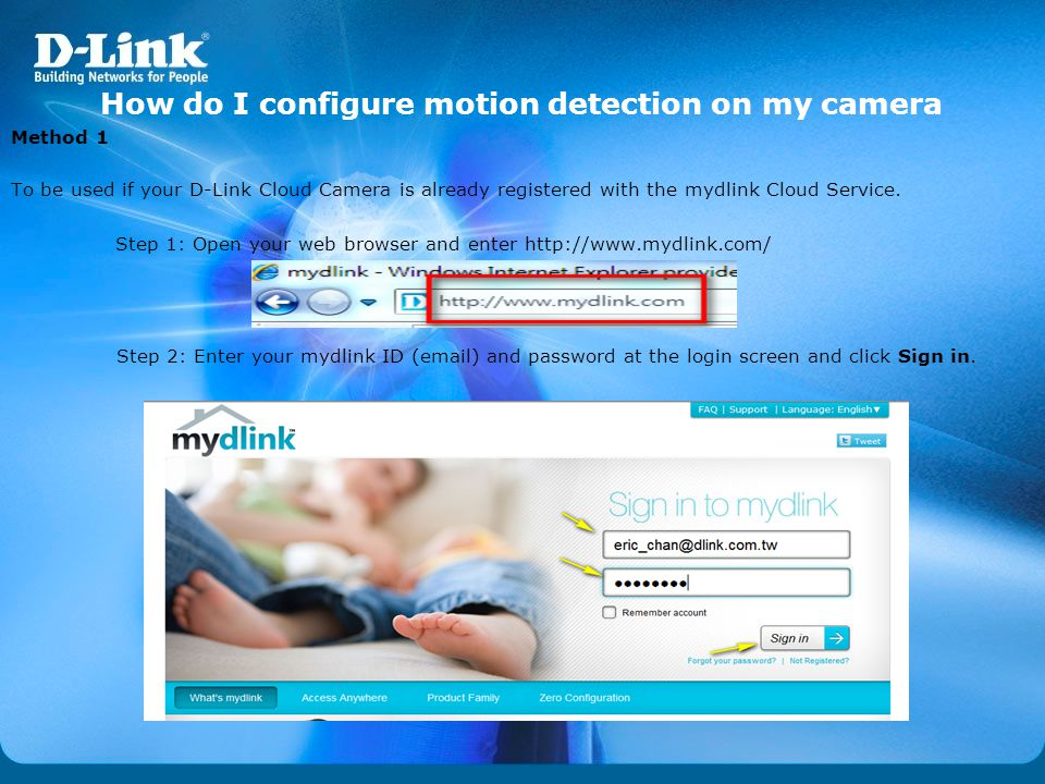 How do I configure motion detection on my camera