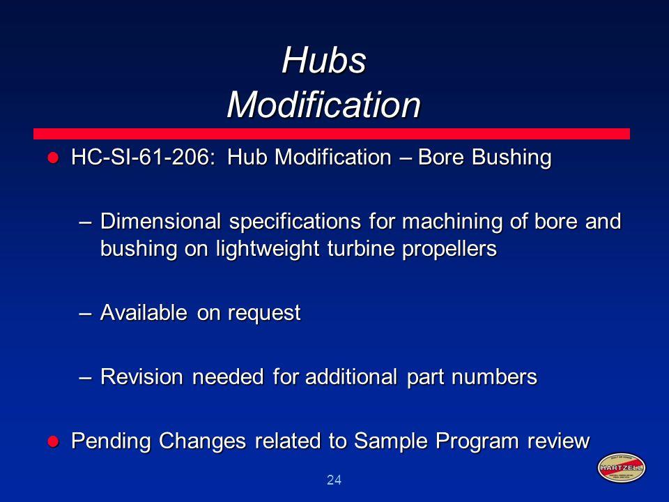 Hubs Modification HC-SI-61-206: Hub Modification – Bore Bushing