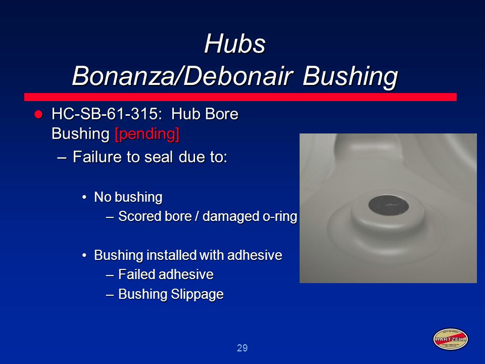Hubs Bonanza/Debonair Bushing