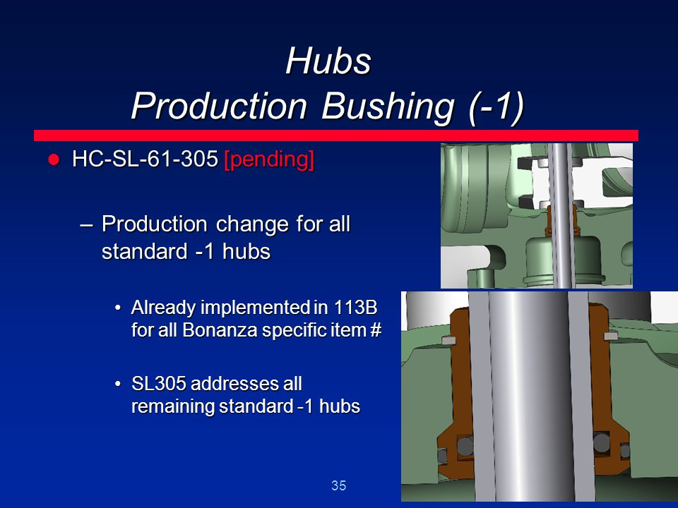 Hubs Production Bushing (-1)
