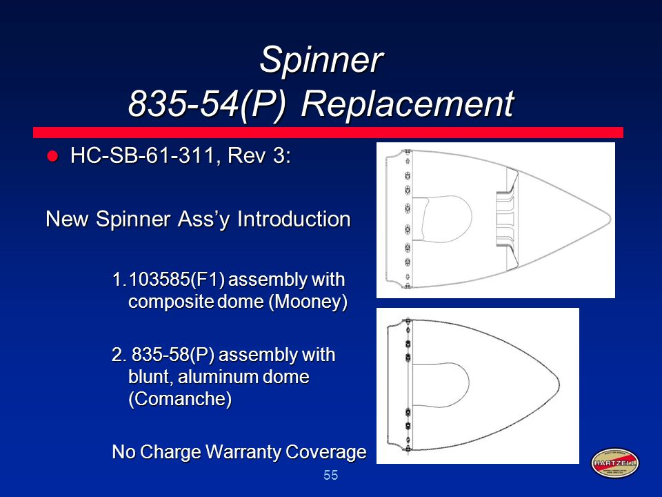 Spinner 835-54(P) Replacement