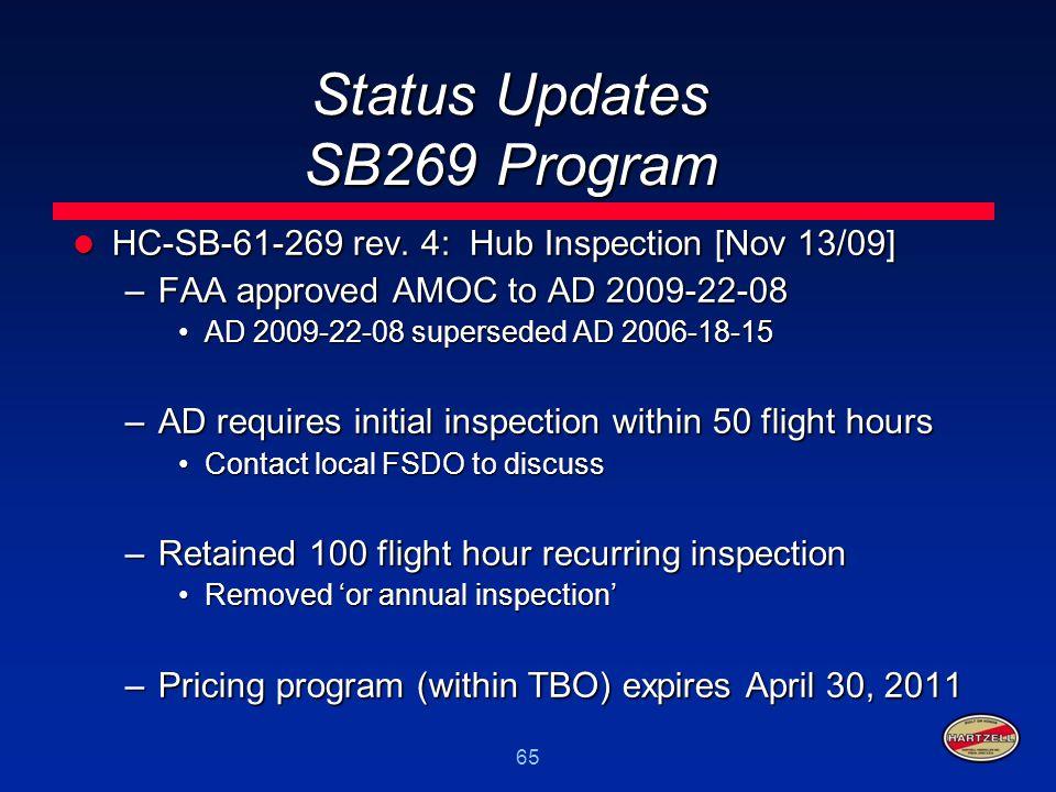 Status Updates SB269 Program