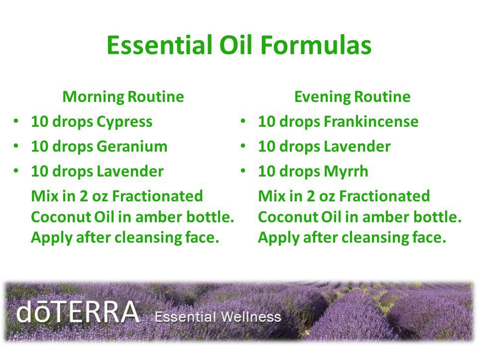Essential Oil Formulas