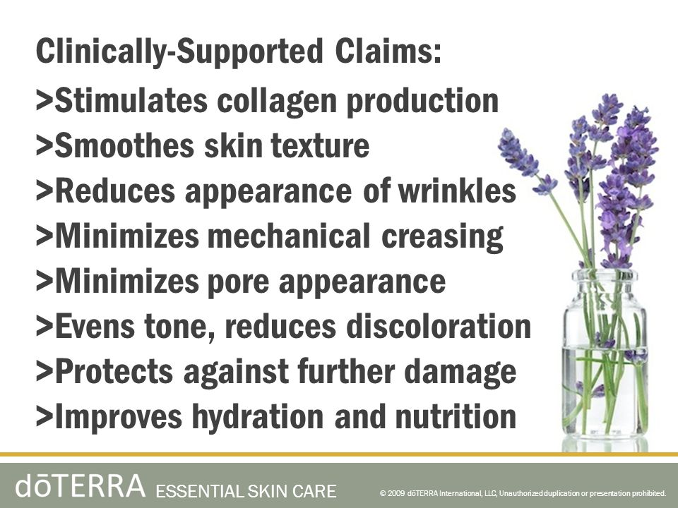 Clinically-Supported Claims: >Stimulates collagen production