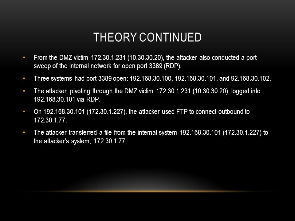 Theory continued
