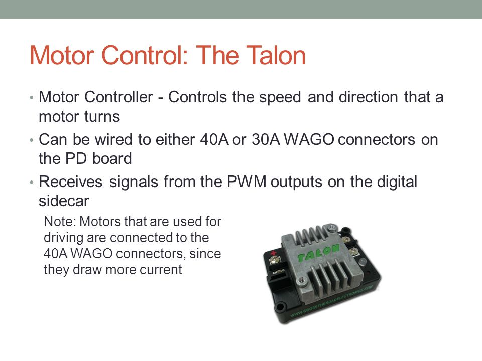 Motor Control: The Talon
