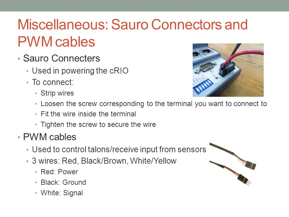 Miscellaneous: Sauro Connectors and PWM cables
