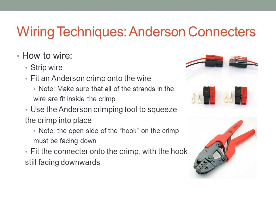Wiring Techniques: Anderson Connecters