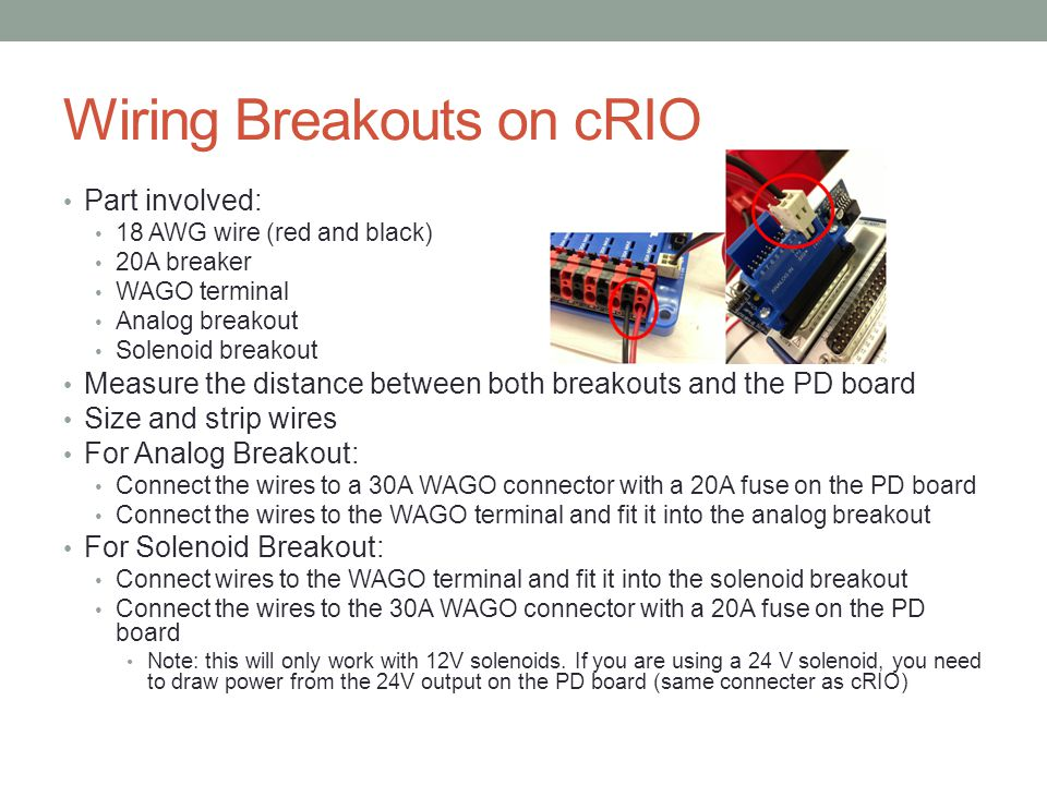 Wiring Breakouts on cRIO
