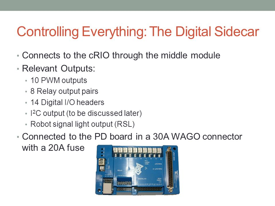 Controlling Everything: The Digital Sidecar