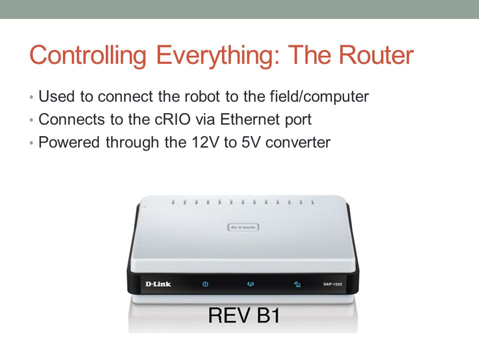 Controlling Everything: The Router