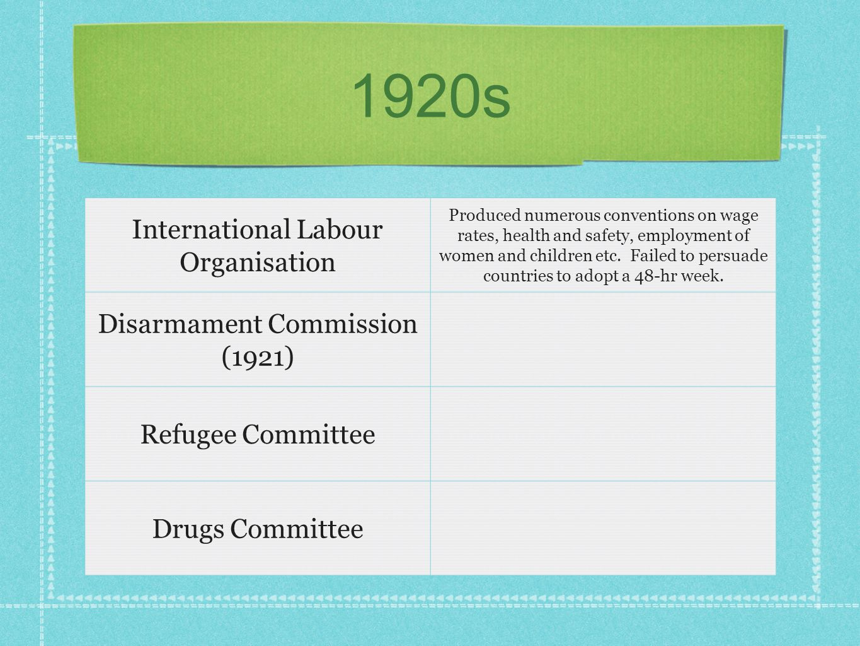 1920s International Labour Organisation Disarmament Commission (1921)