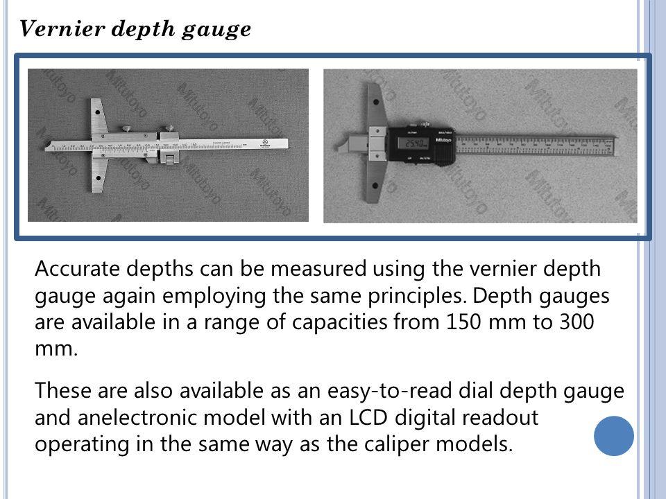 Vernier depth gauge