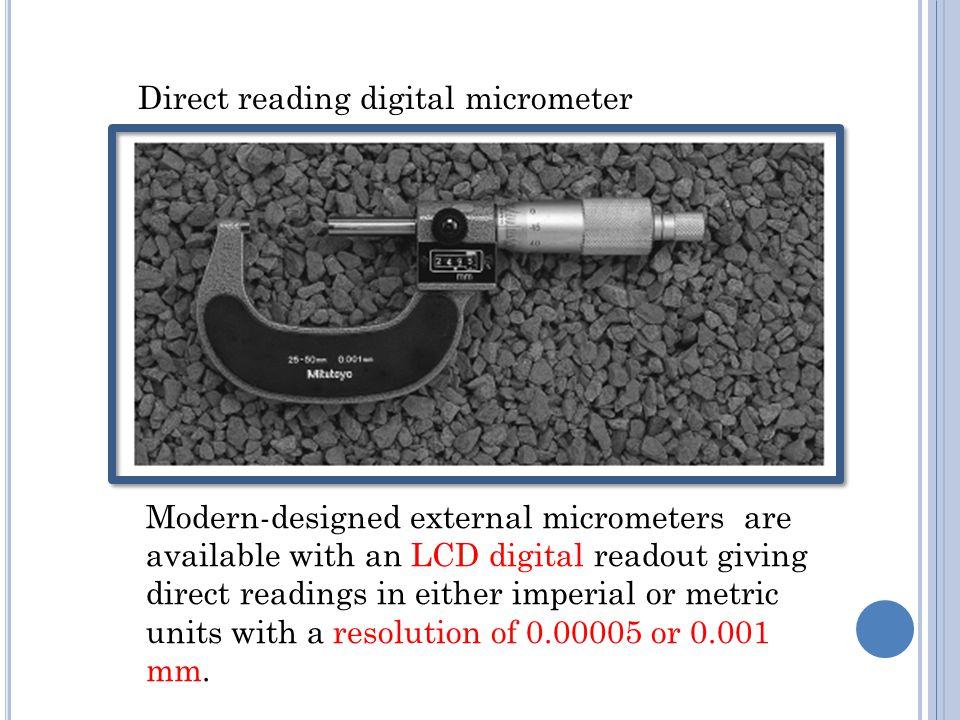 Direct reading digital micrometer