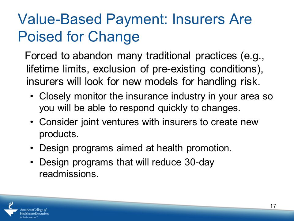 Value-Based Payment: Insurers Are Poised for Change