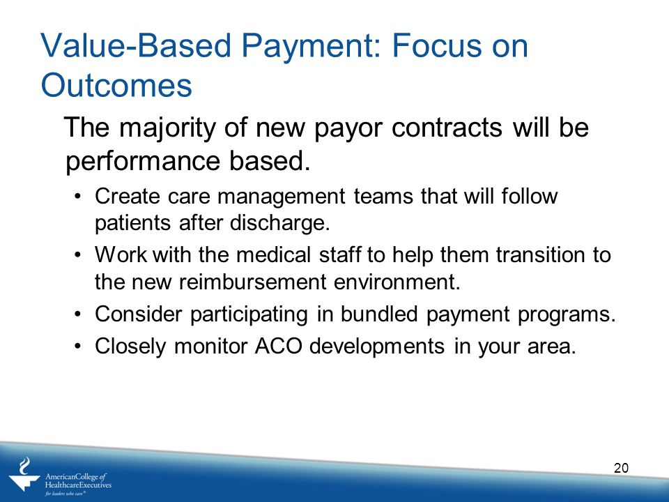 Value-Based Payment: Focus on Outcomes