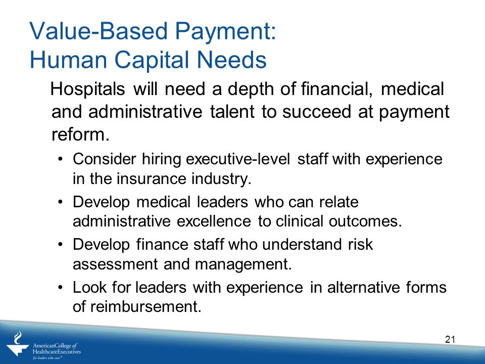 Value-Based Payment: Human Capital Needs