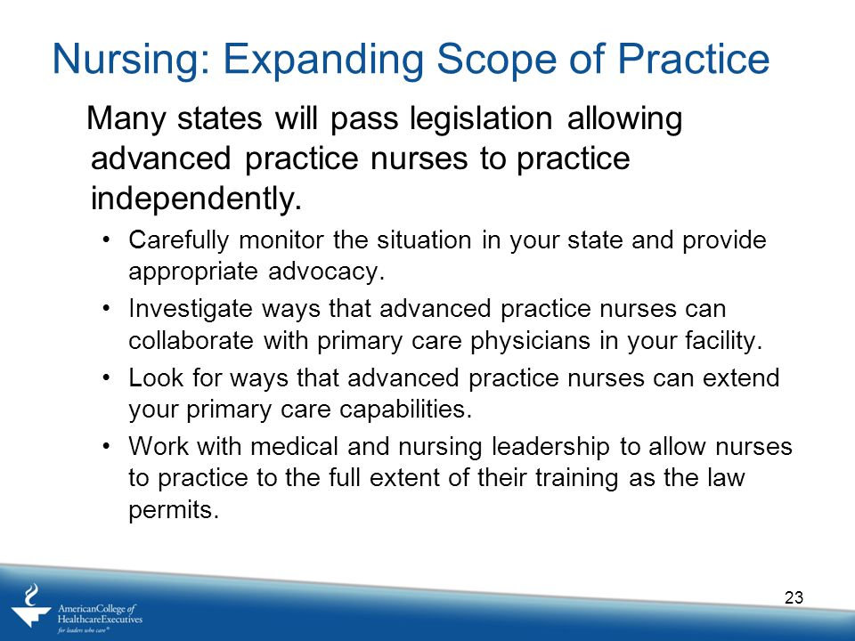 Nursing: Expanding Scope of Practice