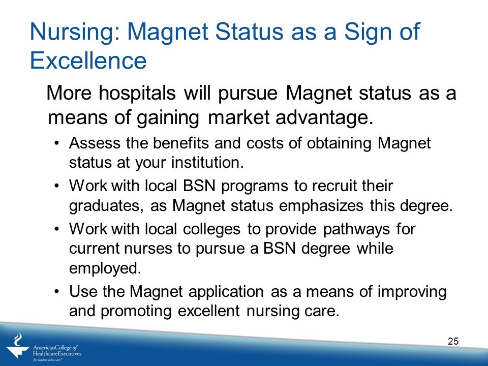 Nursing: Magnet Status as a Sign of Excellence