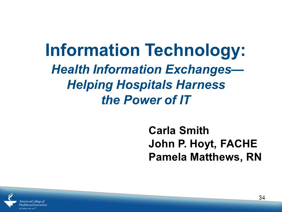Information Technology: