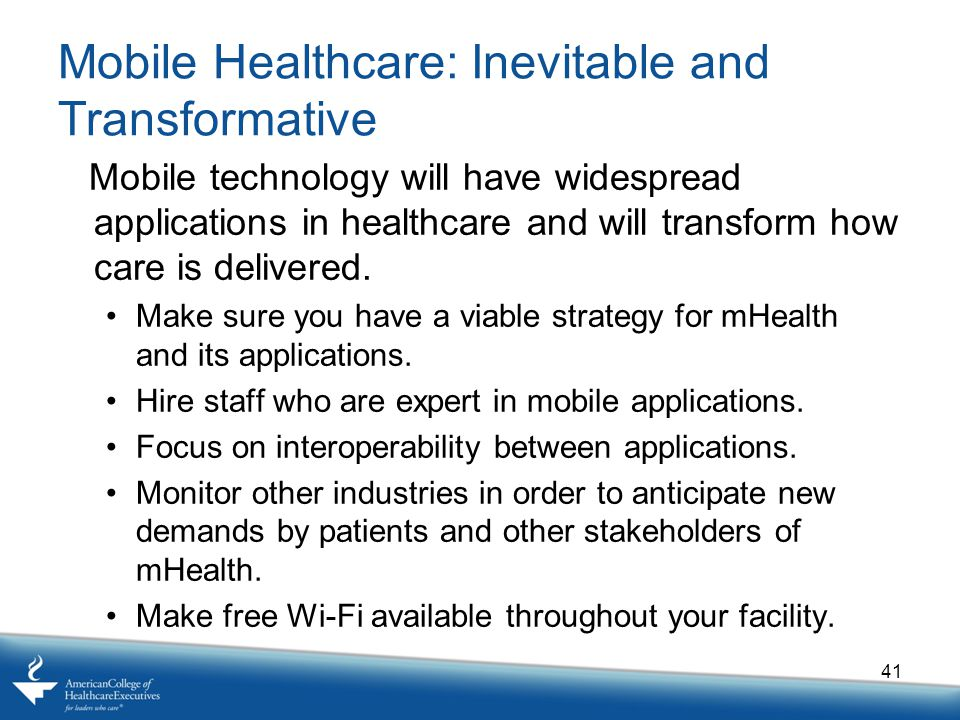 Mobile Healthcare: Inevitable and Transformative
