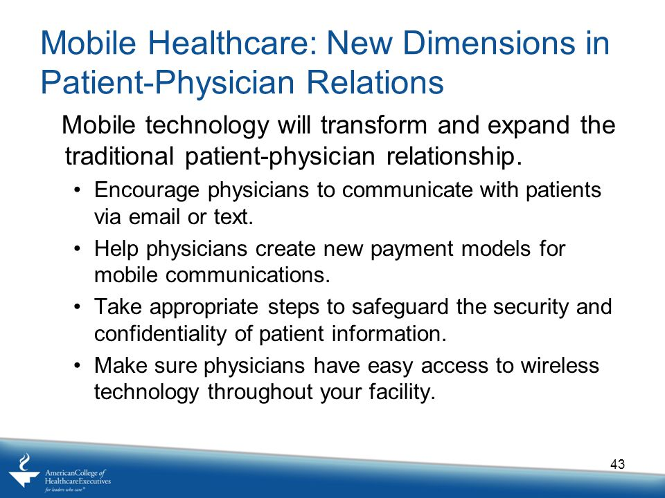 Mobile Healthcare: New Dimensions in Patient-Physician Relations