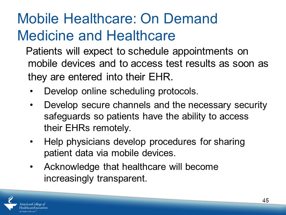 Mobile Healthcare: On Demand Medicine and Healthcare