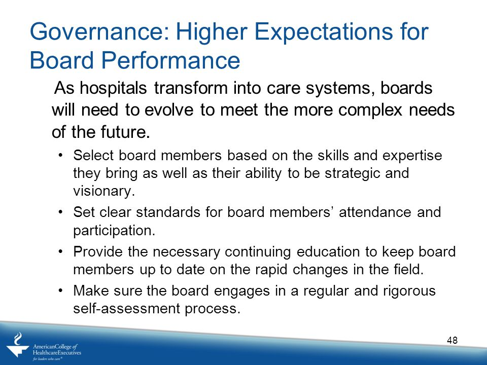 Governance: Higher Expectations for Board Performance
