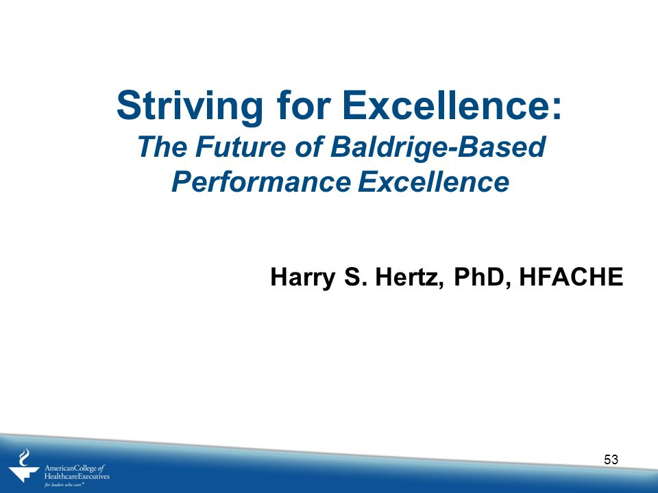 Striving for Excellence: