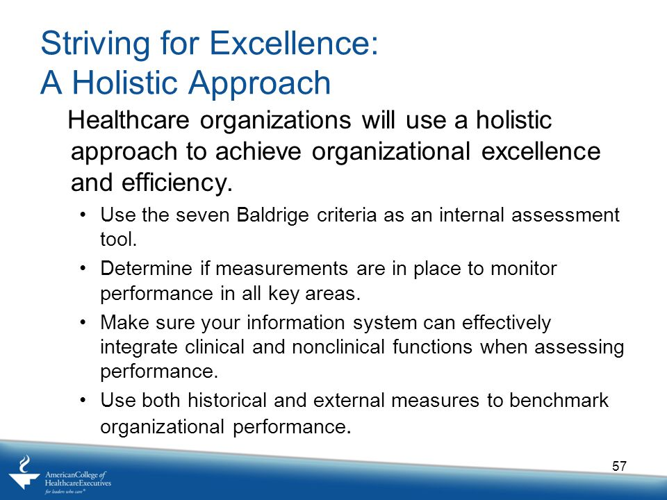 Striving for Excellence: A Holistic Approach