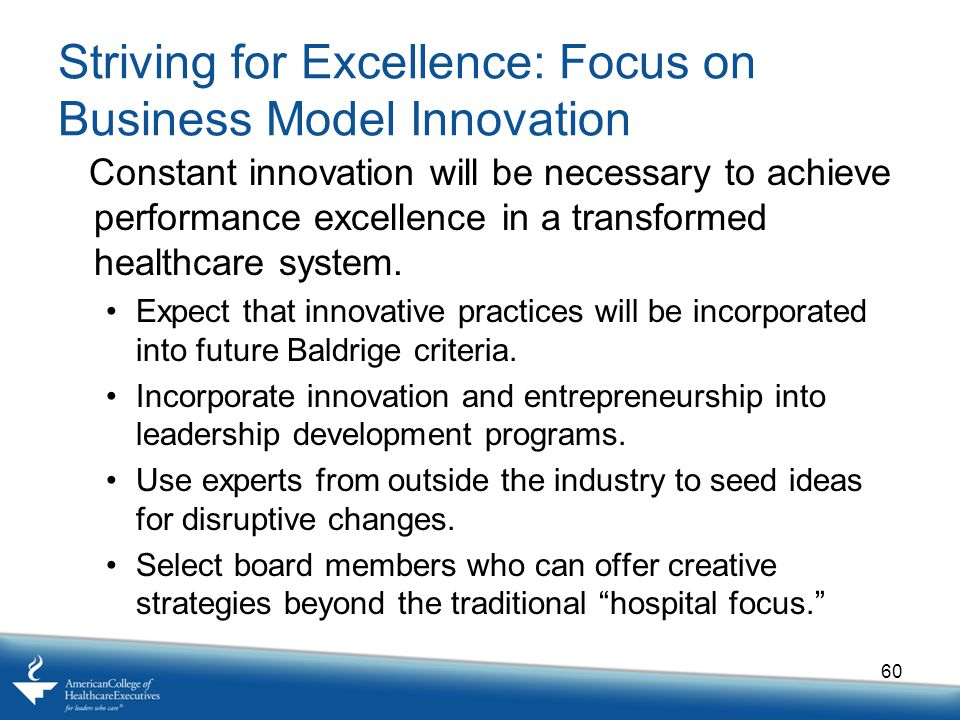 Striving for Excellence: Focus on Business Model Innovation
