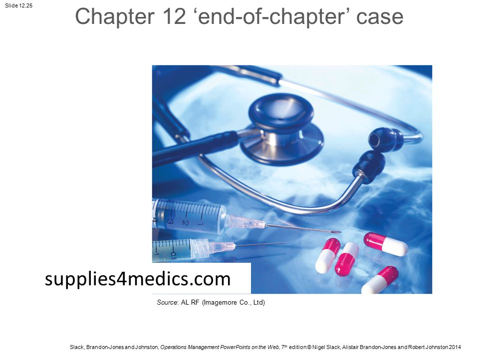 Chapter 12 'end-of-chapter' case