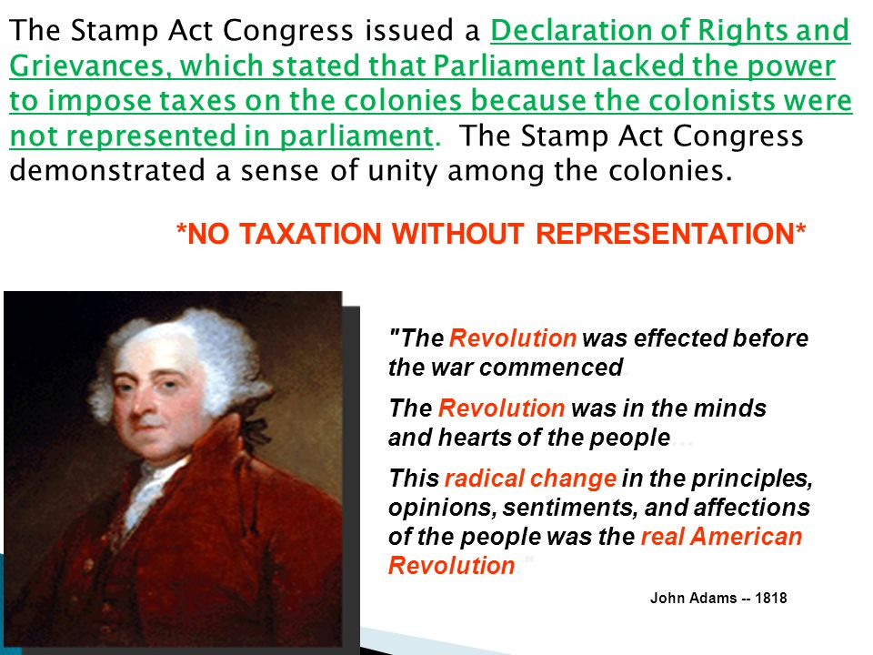 *NO TAXATION WITHOUT REPRESENTATION*