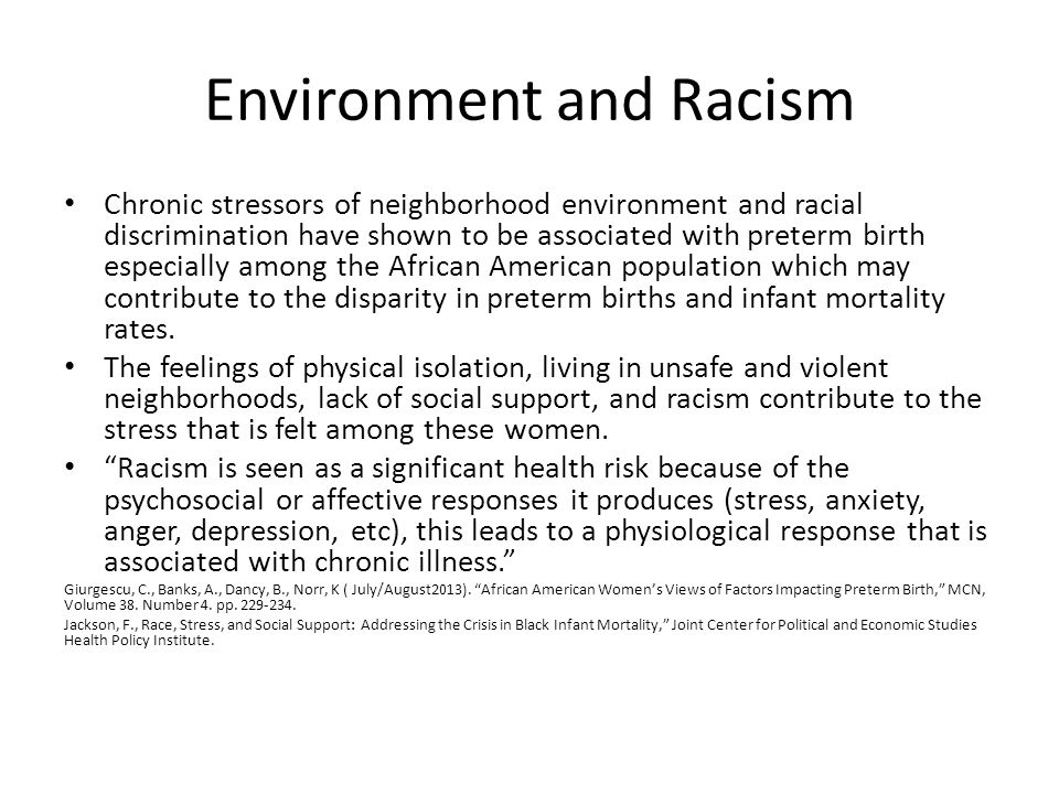 Environment and Racism