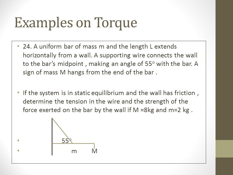 Examples on Torque