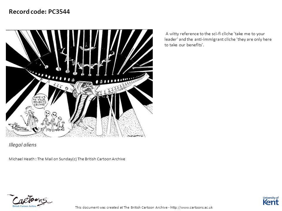 Record code: PC3544 Illegal aliens