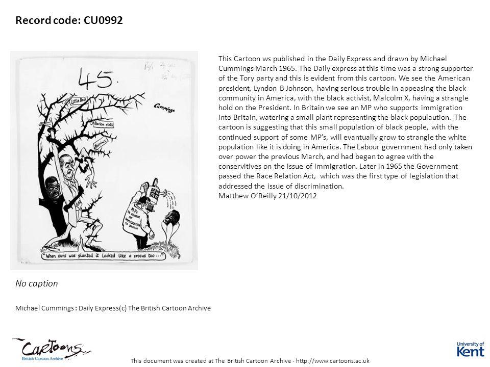 Record code: CU0992 No caption Matthew O'Reilly 21/10/2012