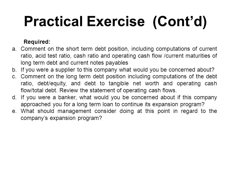 Practical Exercise (Cont'd)