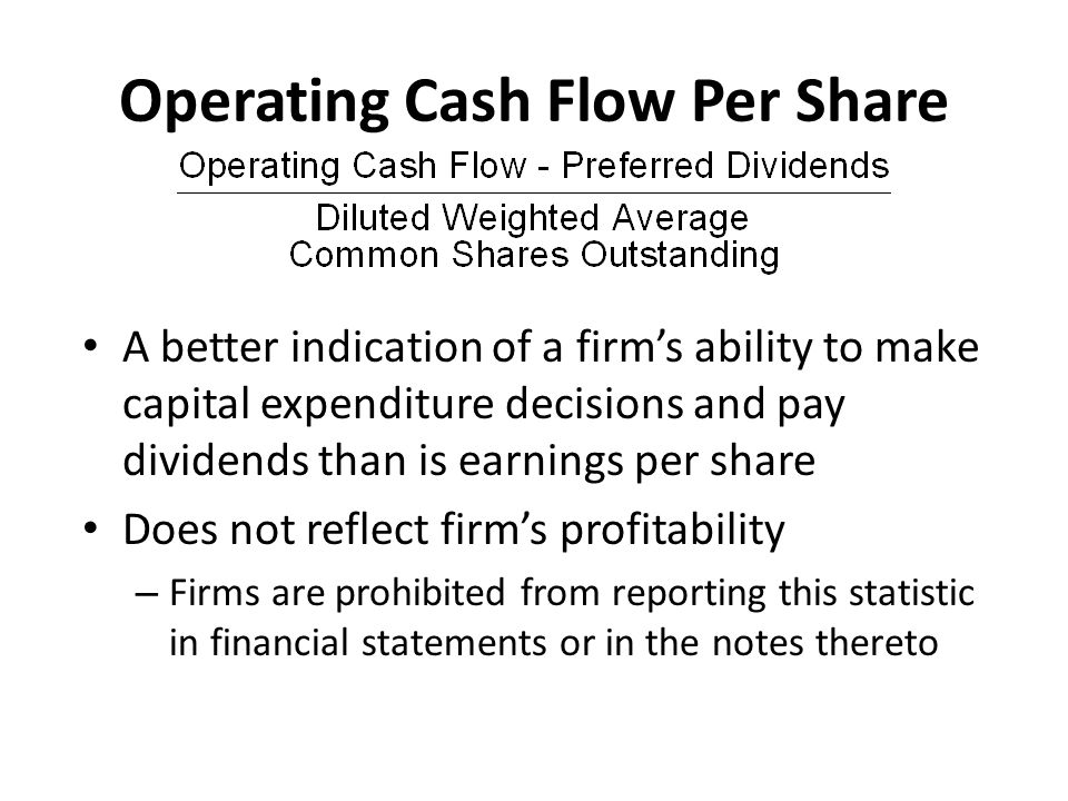 Operating Cash Flow Per Share