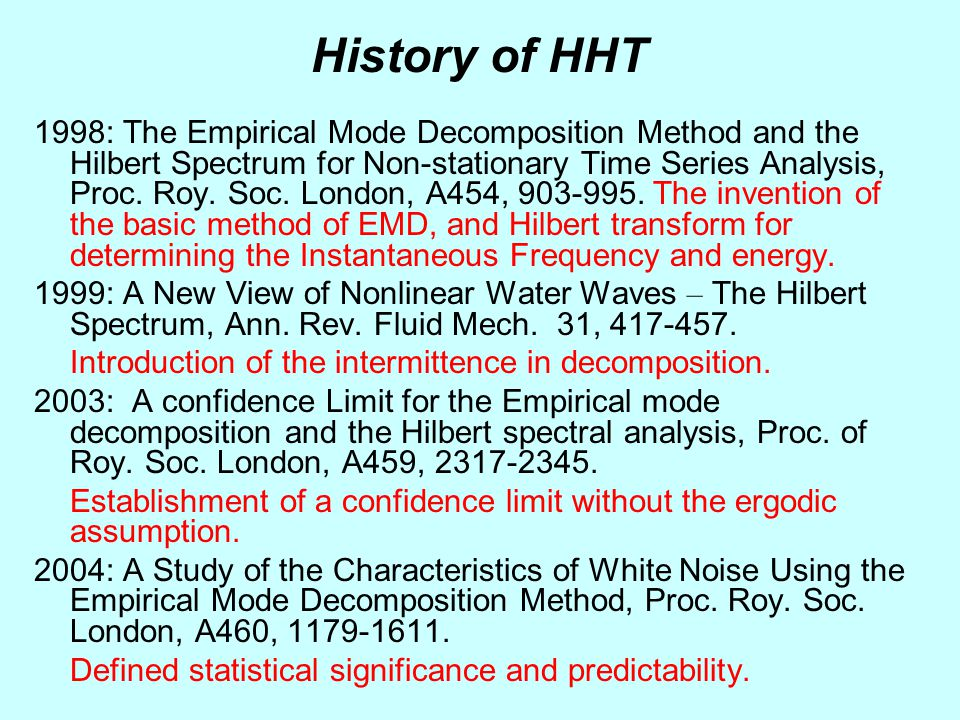 History of HHT