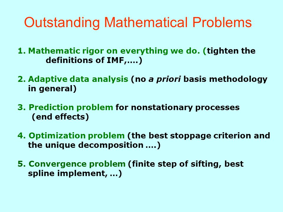 Outstanding Mathematical Problems