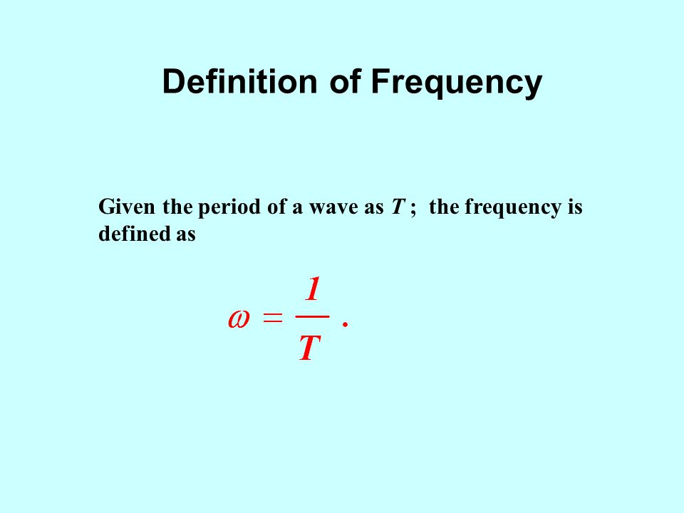 Definition of Frequency