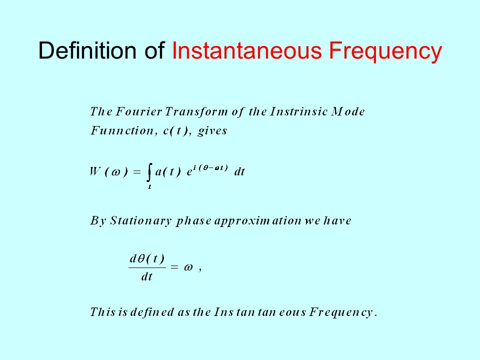 Definition of Instantaneous Frequency