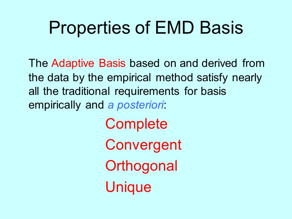 Properties of EMD Basis