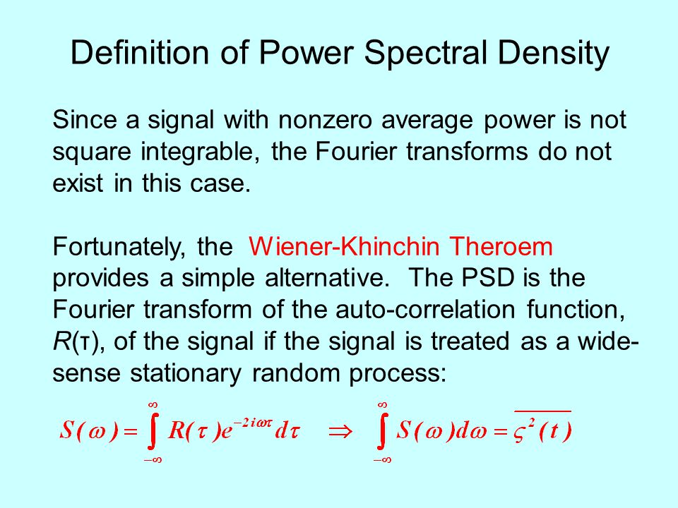 Definition of Power Spectral Density