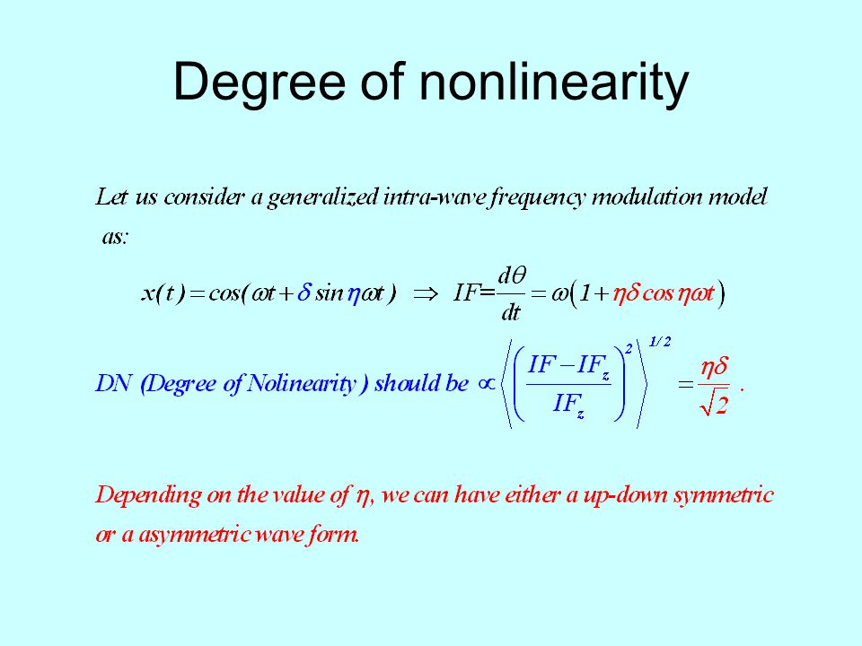 Degree of nonlinearity