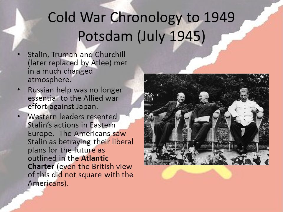 Cold War Chronology to 1949 Potsdam (July 1945)