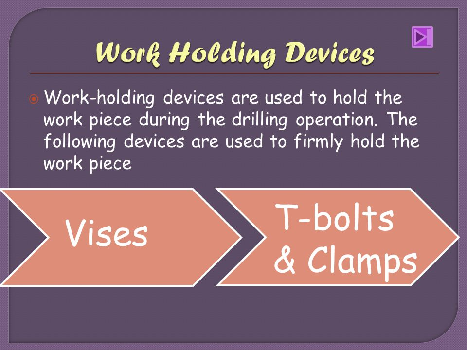 T-bolts & Clamps Vises Work Holding Devices