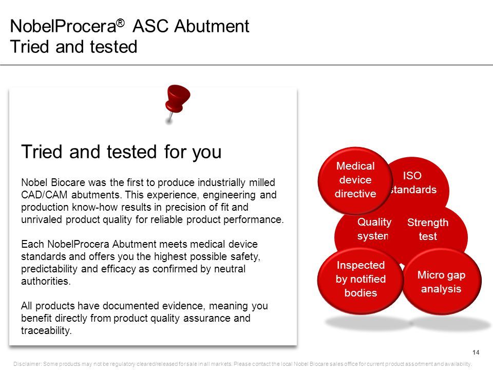 NobelProcera® ASC Abutment Tried and tested